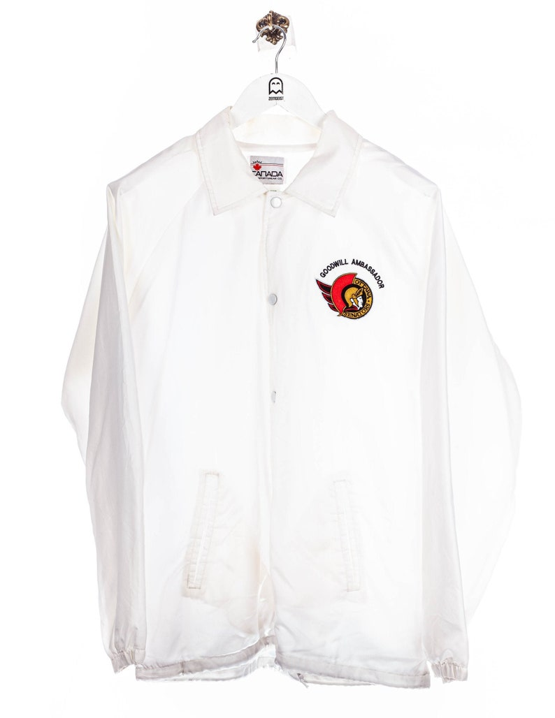 Vintage  Canada Sportswear  Transition Jacket Ottawa Senators Stick White