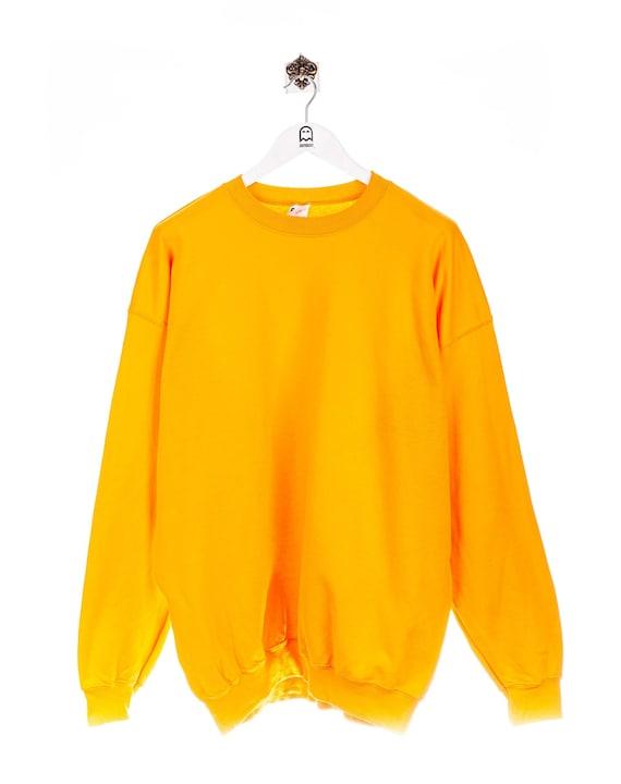 Vintage Gildan Basic Sweatshirt Yellow