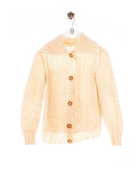Vintage Knit Cardigan Beige