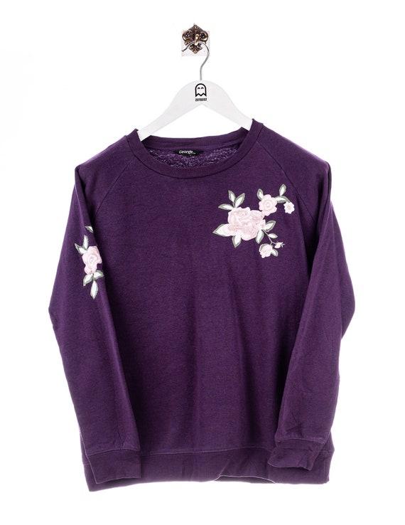 Vintage George  Floral Print Sweatshirt Lila/Flora