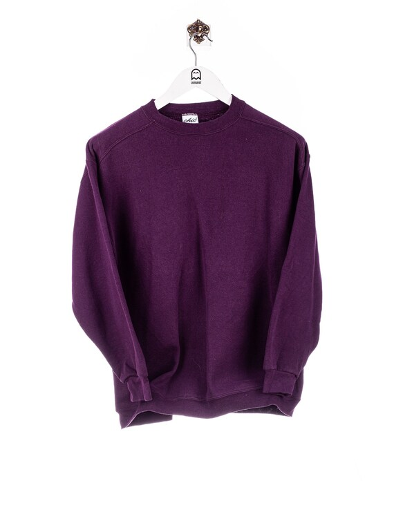 Vintage Chic Basic Sweatshirt Purple