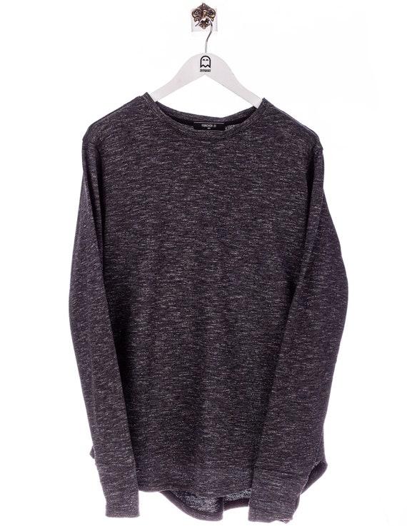 Vintage Forever 21  Meliert Muster Sweatshirt Grau