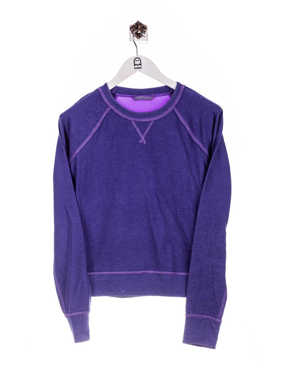 Vintage Neoprene Sport Look Sweatshirt Purple