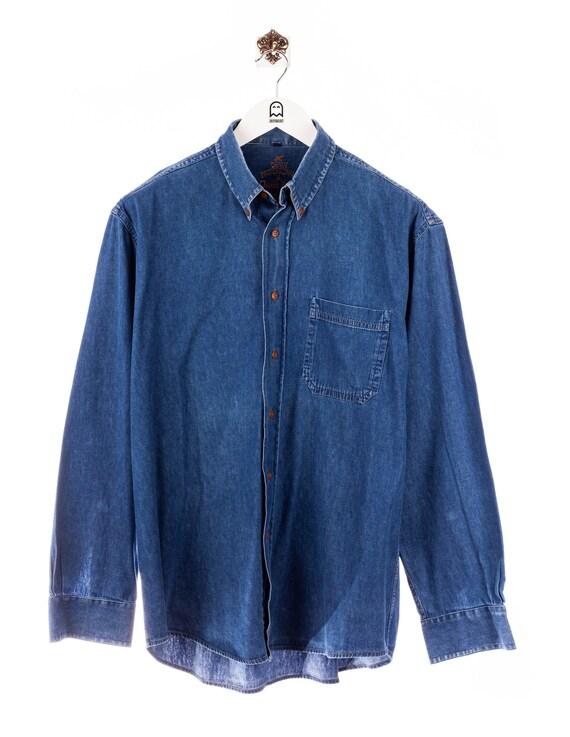 Vintage Denim Professionals Denim Shirt Blue