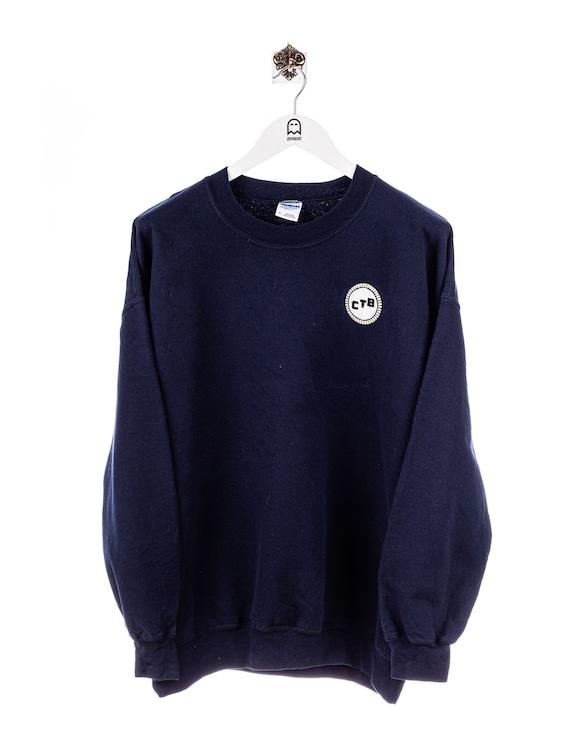 Vintage Gildan CTB Logo Stick Sweatshirt Navy
