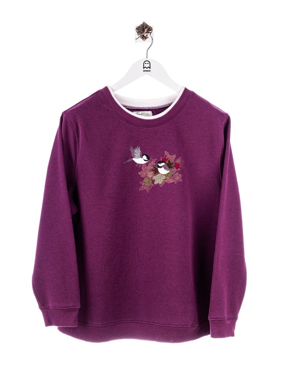 Vintage Tradition Blackbird Stick Sweatshirt Purpl