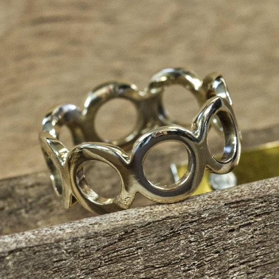 9ct Gold 1970s Fashion Ring