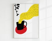 Tea Printable Art, Tea Print, Kitchen Decor, Tea Poster, Inspirational Wall Art, Tea Lover Gift, Instant Download