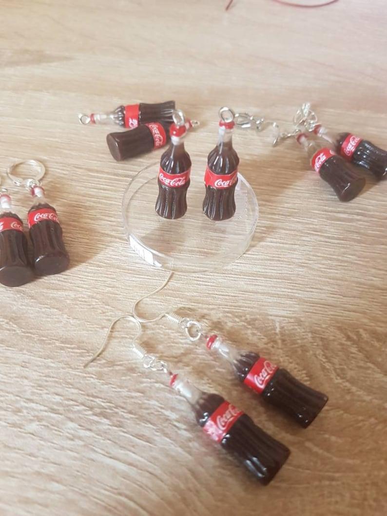 Fizzy pop fizzy drink cola drink fun unusual  clip on earrings kawaii kitsch