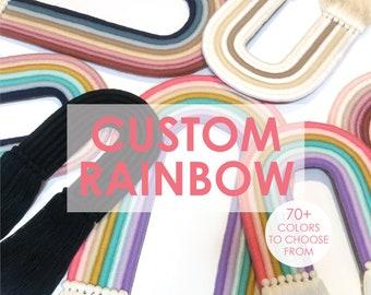 Custom Rainbow Wall Hanging | Rainbow Baby | Kids Room Decor | Nursery Decor | Nursery Wall Art | Baby Shower Gift | Macrame Rainbow