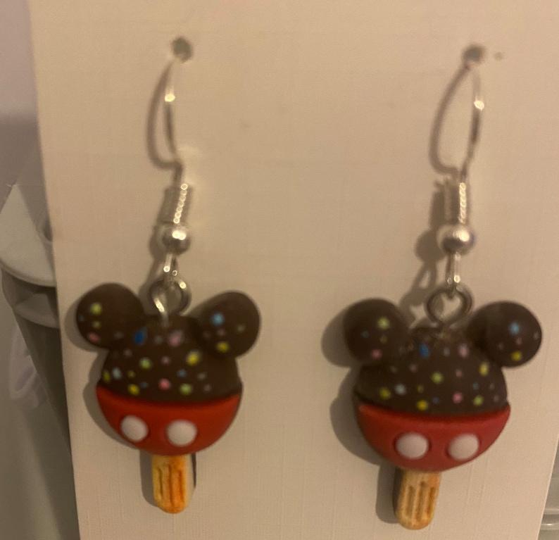Mouse novelty earrings