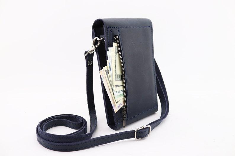 mini crossbody bag cell phone crossbody blue bag small shoulder bag blue leather purse Blue leather bag beetle bags small blue purse