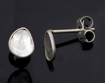Details about  /925 Sterling Silver Hook Woman Uncut Excellent Shape Polki Slice Diamond Earring