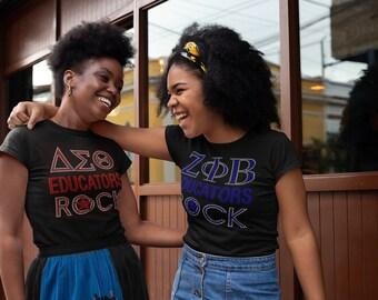 Bling Tee ZOB Educators Rock Ladies Fashion