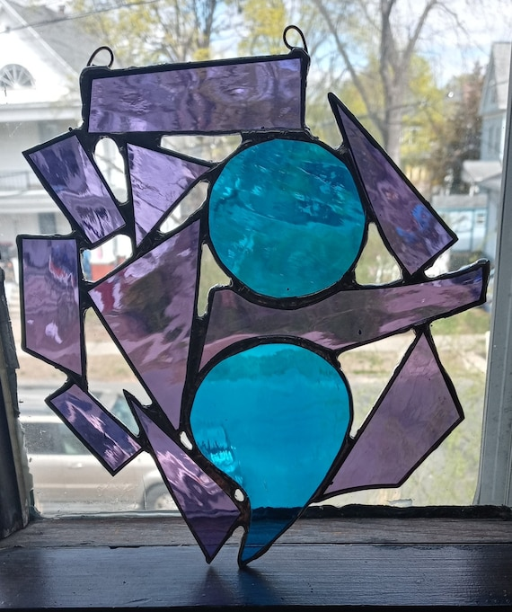 Semicolon - Never Give Up - Stained Glass Suncatcher