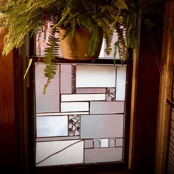 Turn any Window into a Contemporary Stained Glass or Traditional Stained Glass Window with a Stained Glass WindowInsert/Overlay