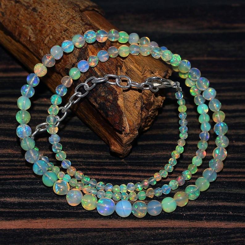 1Strand Balls Necklace.16 inches length #b4 Welo Multi Fire Opal Natural Etiopian A+++ Grade 33Crt