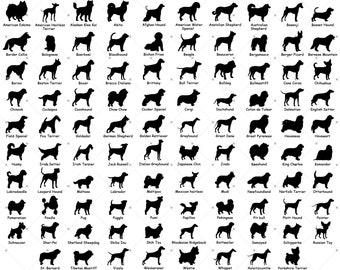 100 Dog Breed Silhouette svg Bundle, Dog svg Bundle, Dog Silhouette SVG Bundle, Dog File Bundle, Dog svg File For Cricut, Dog Silhouette svg