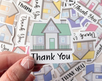 REALTOR Real Estate Agent Thank You Stickers 12 Pack