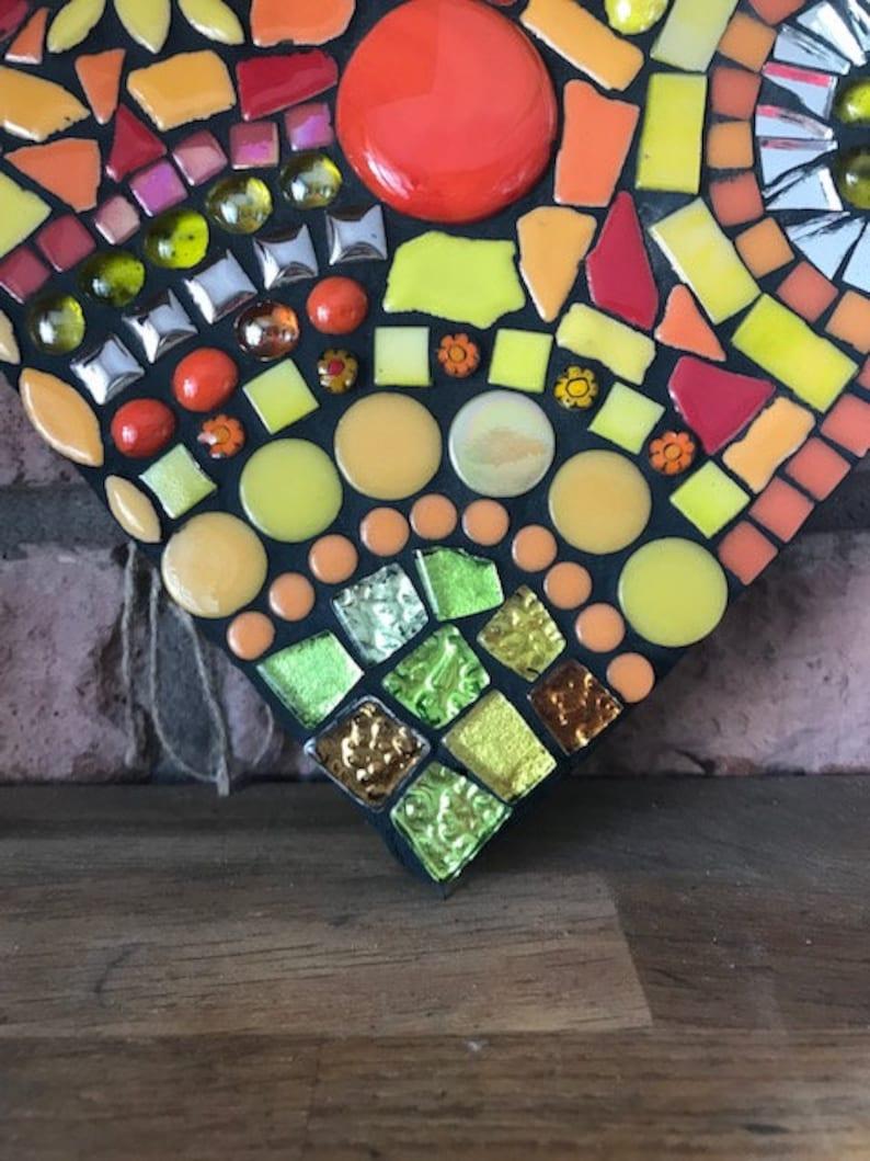 Large garden mosaic heart