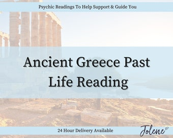 NEW!! Ancient Greece Past Life Email Reading (In depth Answered FAST within 48 hours) 24 hour priority delivery now available