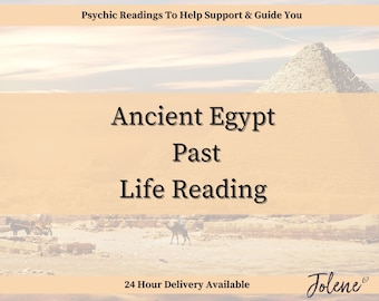 Ancient Egypt Past Life Email Reading (Answered FAST within 24-48 hours pending delivery option chosen)