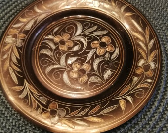 early fifties, vintage copper serving tray rustic decor Vintage copper plate hammered vintage copper plate rustic copper plate