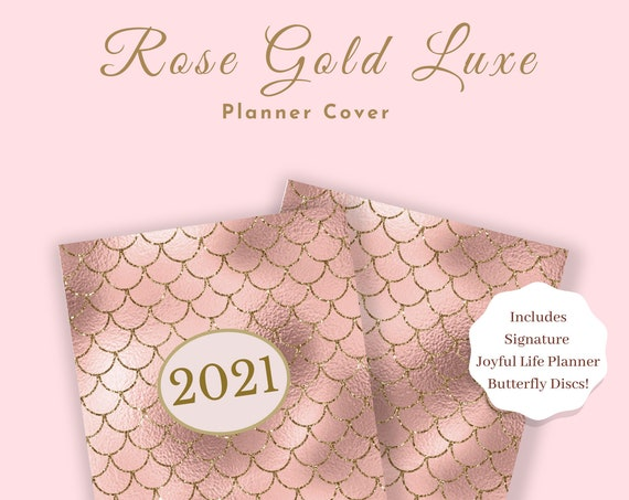 Disc Bound Rose Gold Luxe Planner Cover