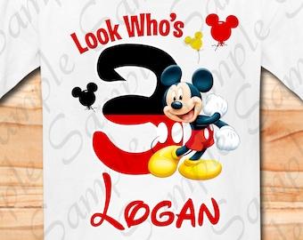 Disney Mickey Mouse Grandma of the Birthday Boy Svg Ballons INSTANT DOWNLOAD Custom Matching birthday party shirt Iron on transfer Printable