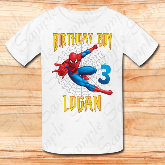 Spiderman Cousin of the Birthday Boy Svg INSTANT DOWNLOAD Personalized Matching birthday shirt Iron on transfer Printable DIY Party shirt