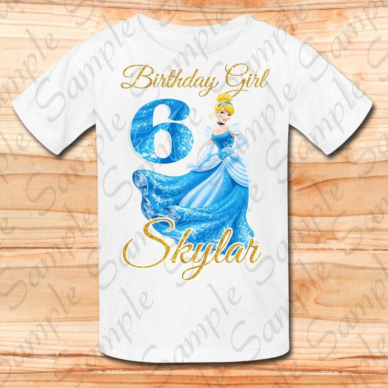Disney Princess Cinderella glitter Svg INSTANT DOWNLOAD Custom Matching birthday party shirt Iron on transfer Printable DIY cut file clipart