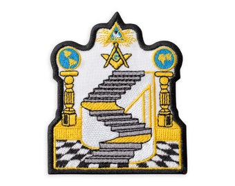 Free Mason Embroidered Iron on Sew On Patch Appliqué