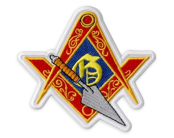 National Camping Travelers Central Jersey NCT Master Mason Campers Masonic Club Big Used Vintage Square Wheelers Chapter No 11 Patch 4.6
