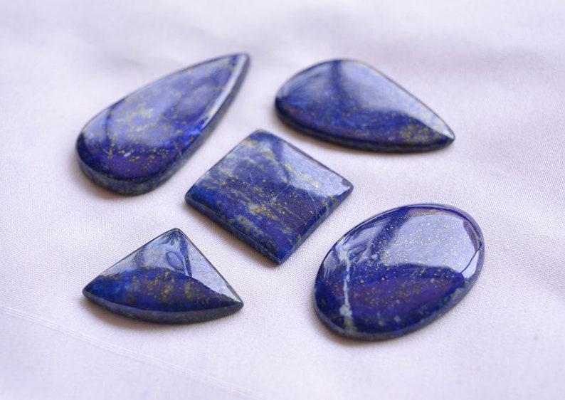 20x29mm To 23x45mm Lapis Mix Shape Cabochon Lapis Lazuli Gemstone 179 Carats # C 612 5 Pcs Lot Lapis Loose Gemstone Wholesale Lot