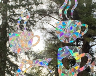 Heart Window Prisms  Rainbow Sticker  Prism Window  Window Decor  Suncatcher Decal Bird Window Alert