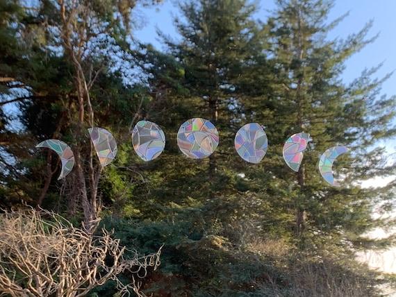 Mini Moon Phase Window Prism- Rainbow Suncatcher Holographic Window Cling Film