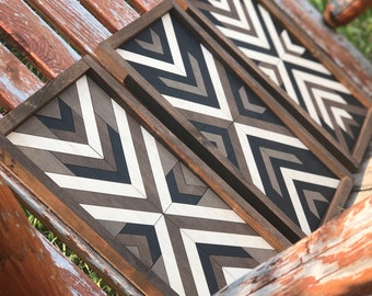 Barn quilt with farmhouse style frame