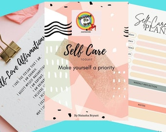 Self-Care Journaling pages print out PDF self love affirmations