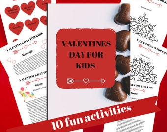 Valentines activities for children Kids games Yoga Mindfulness and Breathing practices Love