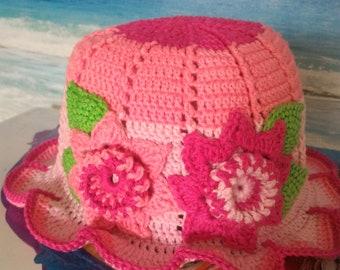 Babykids outer space crochet sun hat.