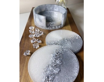 Resin Coasters and Holder