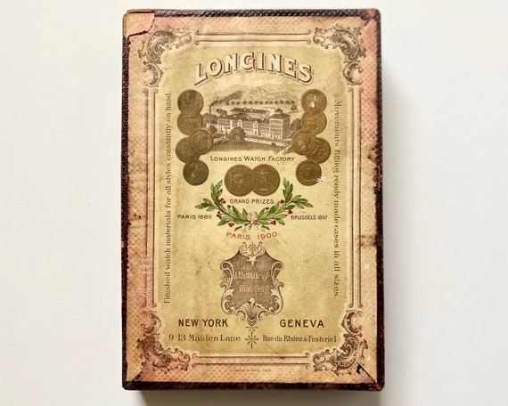 1901 Longines Watch Parts Box