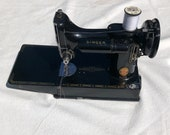 Singer Featherweight 221K Sewing Machine RED quot S quot ES172