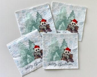 Rice paper decoupage arm100024 napkin vintage Santa Christmas Decoupage supplies