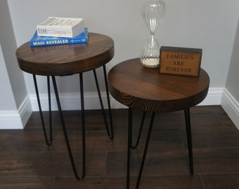 Reclaimed Wood Table | Coffee Table | Reclaimed Wood Nightstand | Rustic End Table | Farmhouse End Table | Nesting Tables | FREE SHIPPING