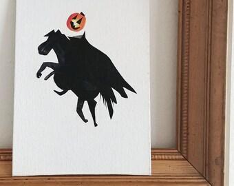 Headless Horseman- Headless Horseman Decor- Sleepy hollow decor- Sleepy Hollow Headless Horseman- Halloween Decor- Halloween  Art-