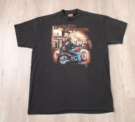 Harley Davidson T-shirt 3D Emblem 1990