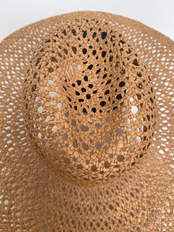 Vintage Straw Hat / Summer / Women's Hat / 70's S… - image 9
