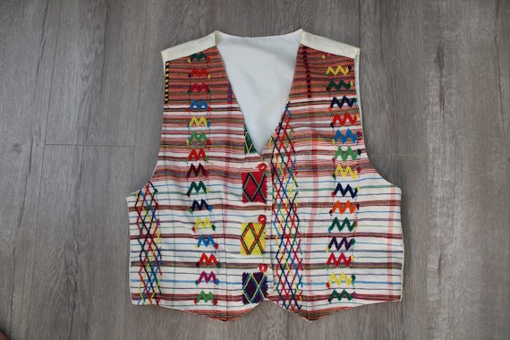 Vintage Women Embroidered Vest