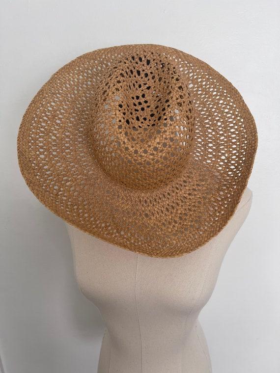 Vintage Straw Hat / Summer / Women's Hat / 70's S… - image 3